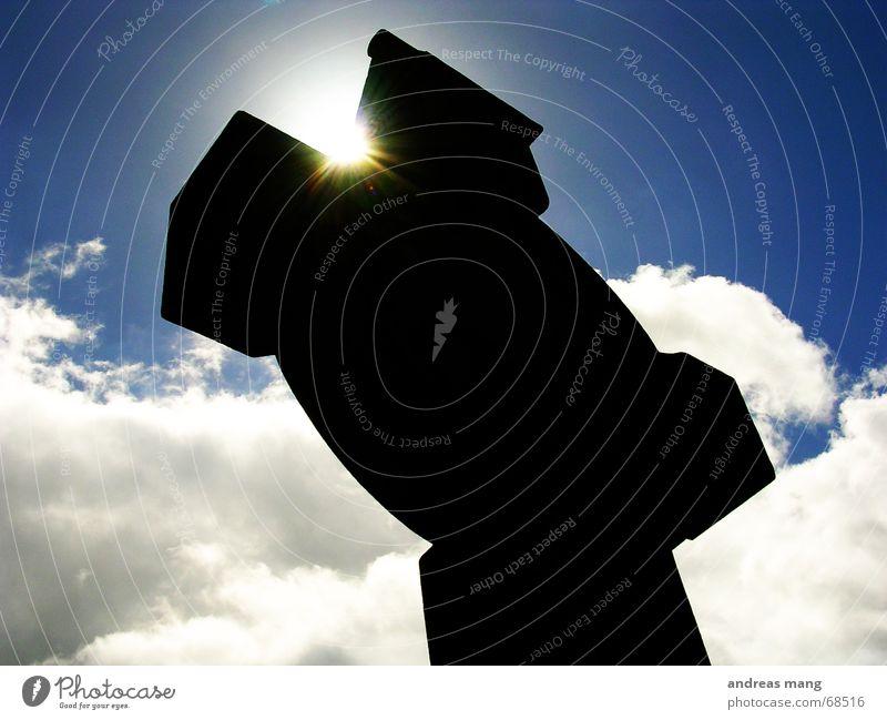 Sky Sun Blue Black Clouds Back Radiation Celts