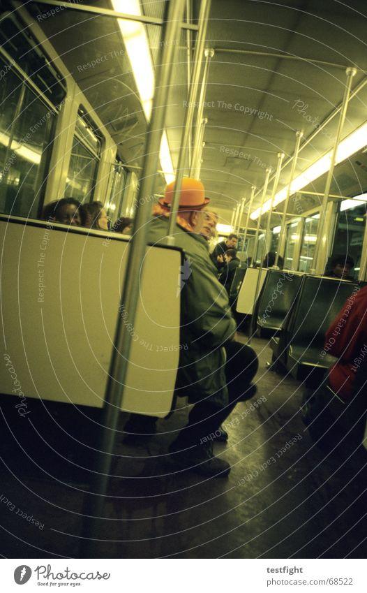 Human being Lighting Sit Driving Underground Mobility London Underground In transit Public transit Underground bench