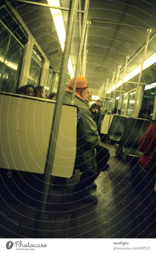 Human being Lighting Sit Driving Underground Mobility London Underground In transit Public transit Underground bench