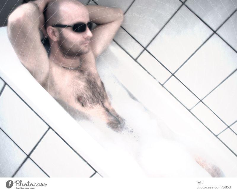 bathing day Man Bathtub Foam Tile