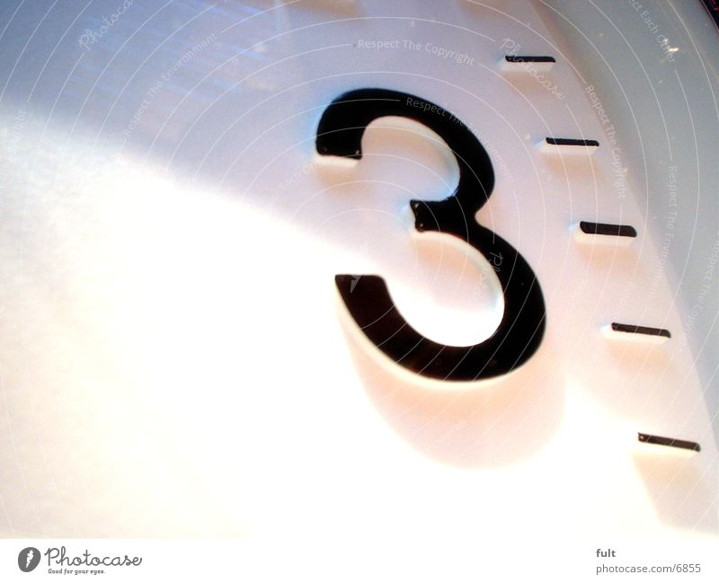 Time 3 Clock Digits and numbers Living or residing