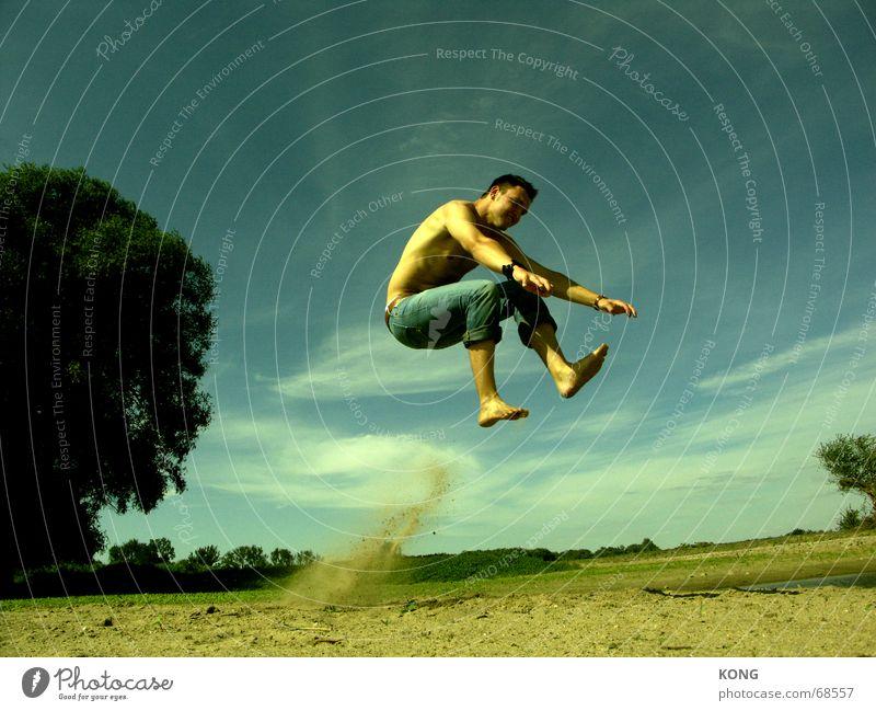 Sky Blue Green Summer Beach Meadow Grass Jump Flying Lie Aviation To fall Hover Easygoing Hop Hongkong