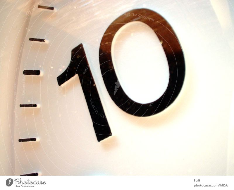 10 Digits and numbers Clock Time Living or residing plastic
