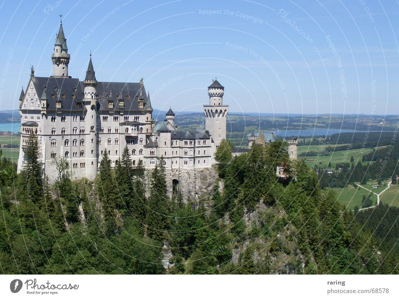 Tourism Kitsch Castle Bavaria Neuschwanstein Fairytale castle