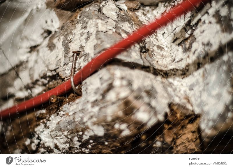 nail Redecorate Cellar Attic Craftsperson Cable Nail Wooden board Ruin Roof Brown White Power Brave Safety Help Honest Unwavering Effort Attachment To hold on
