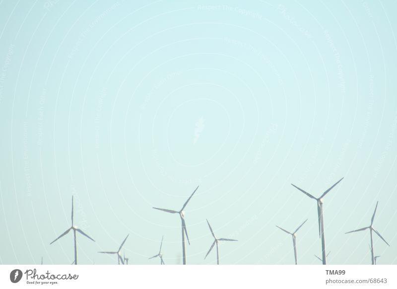 Metal - Dwarves Moody Ecological Wind energy plant Sky Blue Technology Blue sky Landscape Beautiful weather Energy industry