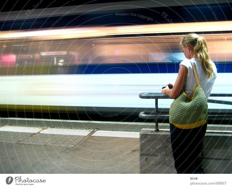 Wait Railroad Speed Driving Stripe Fantastic Train station Late Lateness