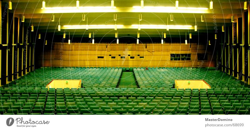 Green Joy Loneliness Yellow Room Sit Empty Stairs Film industry Chair Entrance Cinema Warehouse Seating Blanket Row of seats