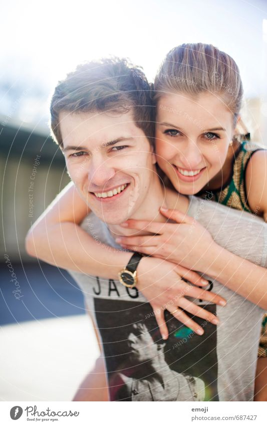 Human being Youth (Young adults) Beautiful Young woman Joy 18 - 30 years Young man Adults Feminine Laughter Happy Couple Friendship Masculine Happiness Positive