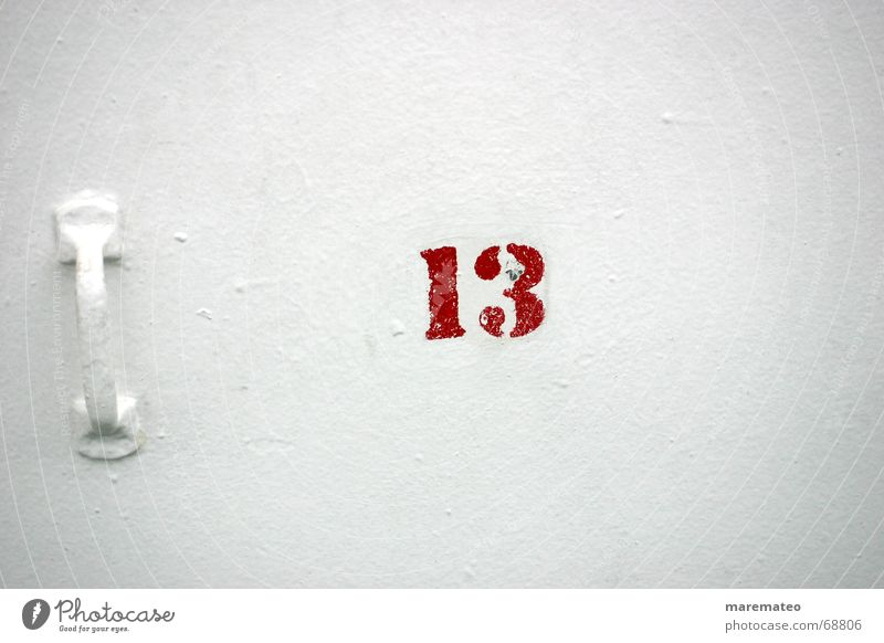 .superstitious? White Red Wall (building) Door handle 13 10 Toes Flap Watercraft Deck Maritime Ocean Lake Navigation Digits and numbers Popular belief