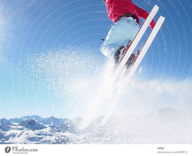 Sky Sun Joy Sports Snow Jump Mountain Winter sports Skiing