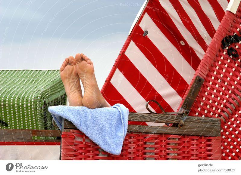 Summer Beach Vacation & Travel Relaxation Feet Wellness Beach chair Towel Langeoog