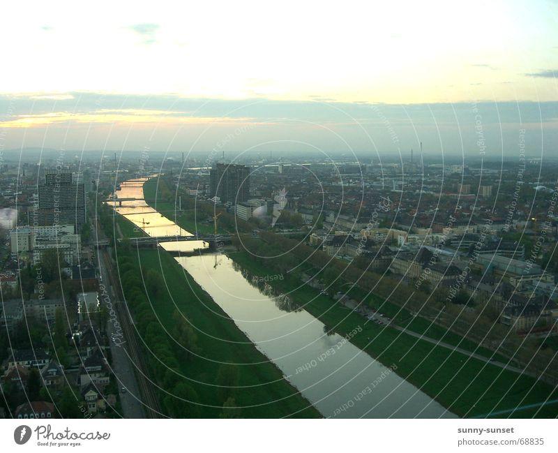 City River River bank Mannheim Neckar