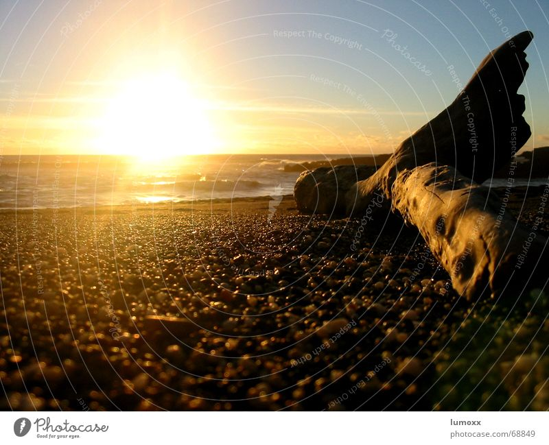 Water Sun Ocean Blue Beach Vacation & Travel Yellow Autumn Wood Stone Waves Coast Joie de vivre (Vitality) Warm-heartedness Bay Beautiful weather