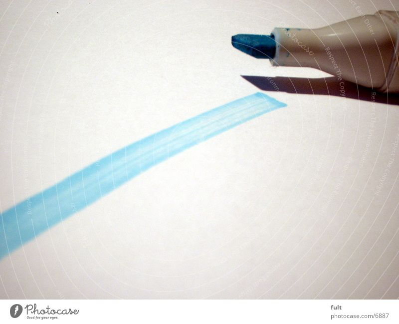 line White Things Blue Line