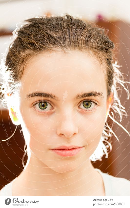 Human being Child Youth (Young adults) Beautiful Calm Face Feminine Natural Moody Elegant Infancy Authentic Smiling Esthetic Friendliness Uniqueness