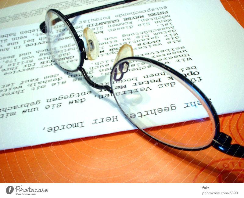 glasses Eyeglasses Paper Things Statue Orange