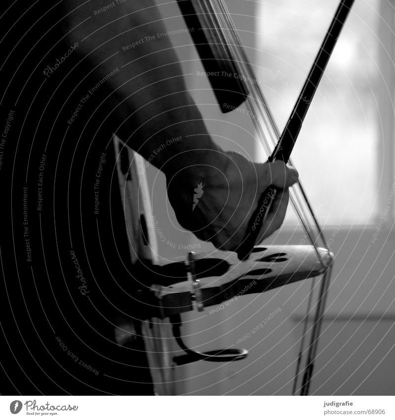 Human being Man Hand Black Music Tone Sound Arch Musical instrument string Double bass String instrument