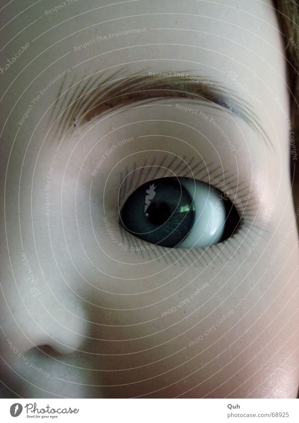 Blue Face Eyes Head Baby Nose Painting (action, work) Infancy Crockery Doll Cheek False Ancient Eyelash Left Eyebrow