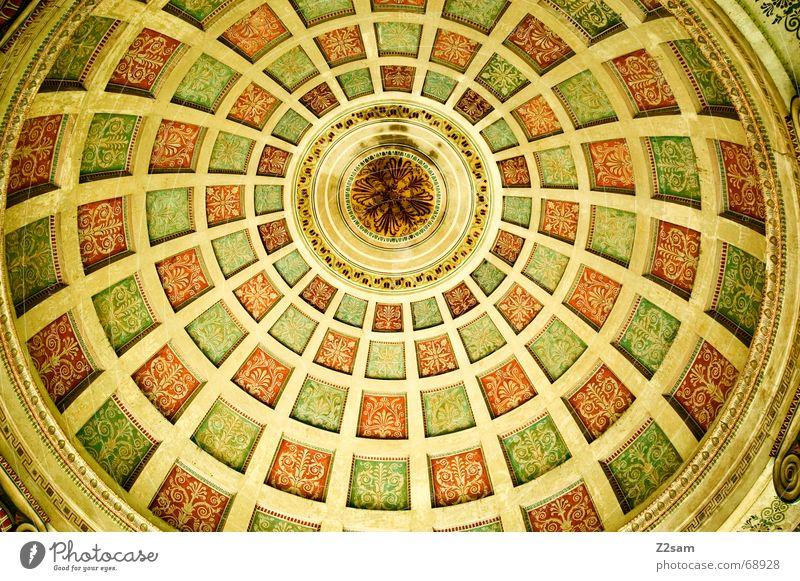 Yellow Round Munich Square Blanket Painted The Englischer Garten Monopterus