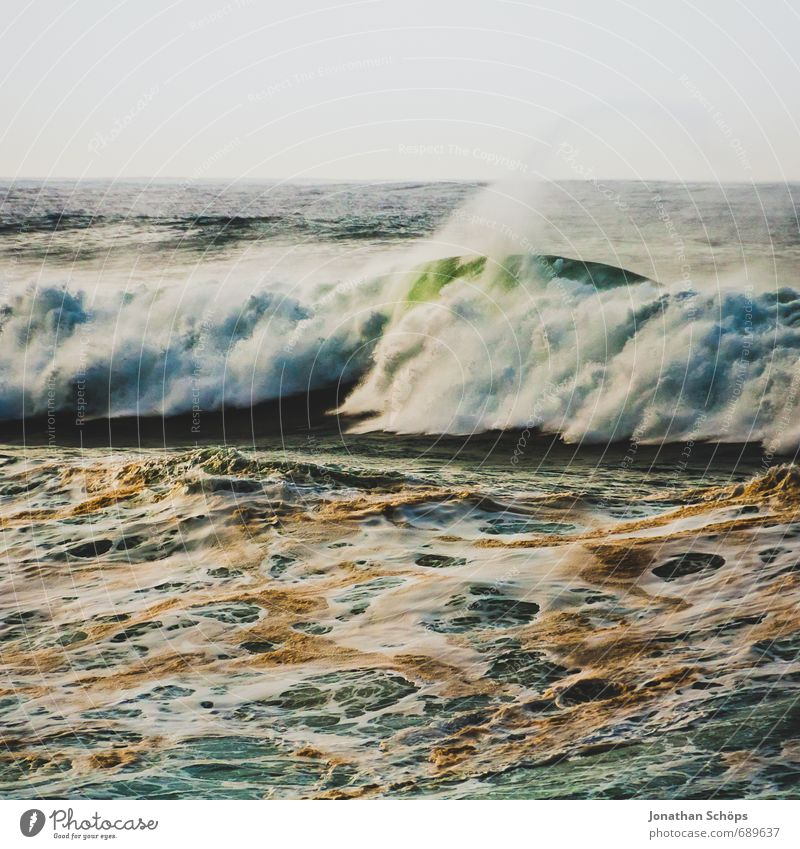 Nature Ocean Landscape Environment Coast Dirty Waves Wild Wind Dangerous Island Spain Storm Square Gale Aggression