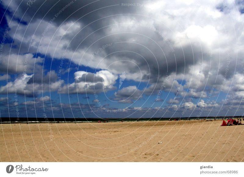Human being Water Sky Ocean Blue Summer Beach Clouds Far-off places Colour Sand Wind Horizon Deep Breeze