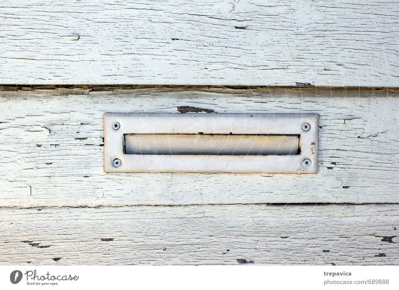 ... mailbox... Door Mailbox Wood Metal Rust Line Communicate Write Wait Living or residing Old Authentic Sharp-edged Simple Historic Beautiful Blue Emotions