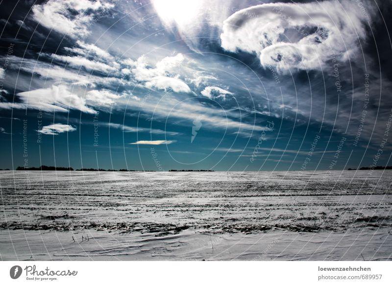 Sky Blue Beautiful White Landscape Clouds Winter Cold Snow Movement Exceptional Dream Field Power Wild Illuminate