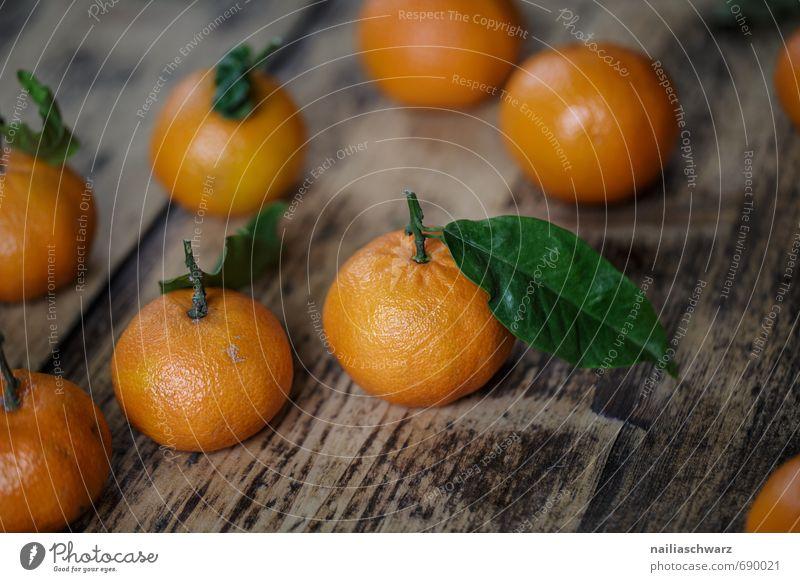 Beautiful Green Leaf Healthy Food Orange Fruit Fresh Many Part Fragrance Organic produce Wooden board Juicy Diet