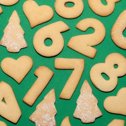 Only 268 days left ;-) Dough Baked goods Cookie Nutrition Eating To have a coffee Banquet Christmas & Advent Winter Sign Digits and numbers Heart 1 7 4