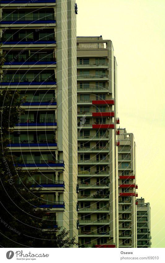 House (Residential Structure) Berlin Window Glass High-rise Tall Facade Modern Balcony GDR Prefab construction Downtown Berlin Leipziger Straße