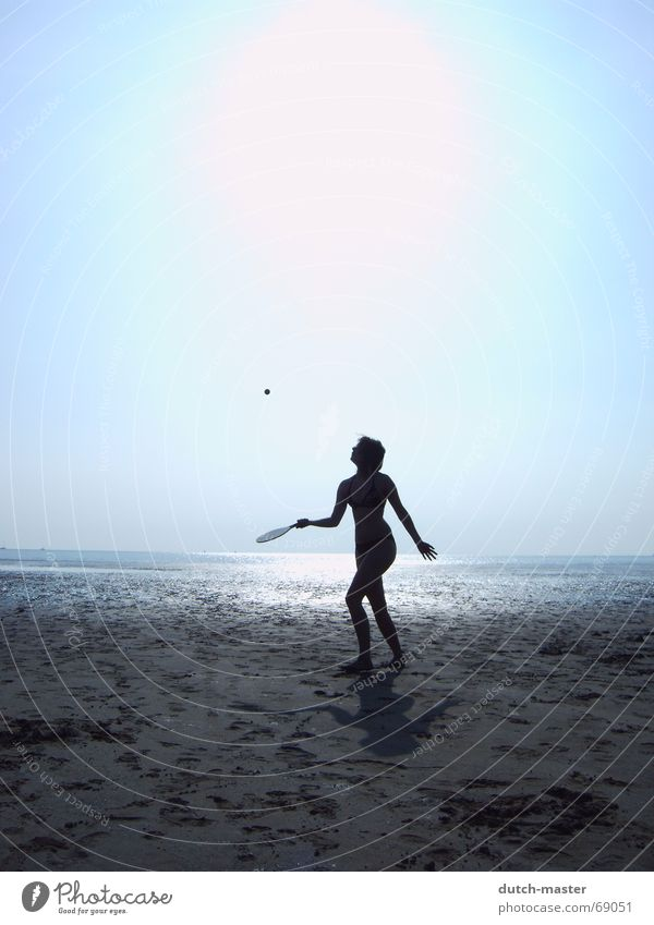 Woman Water Sun Vacation & Travel Summer Ocean Beach Dark Sports Playing Movement Sand Bright Tall Action Perspective