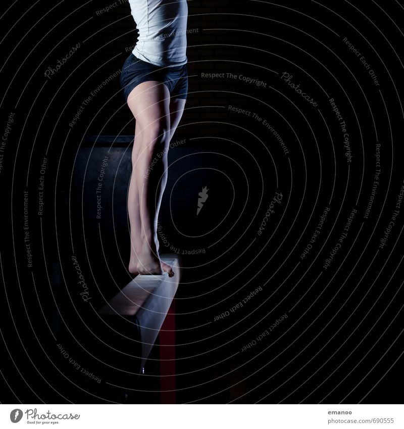 Human being Woman Youth (Young adults) Young woman Black Dark Adults Feminine Sports Style Legs Feet Body Stand Dance Esthetic