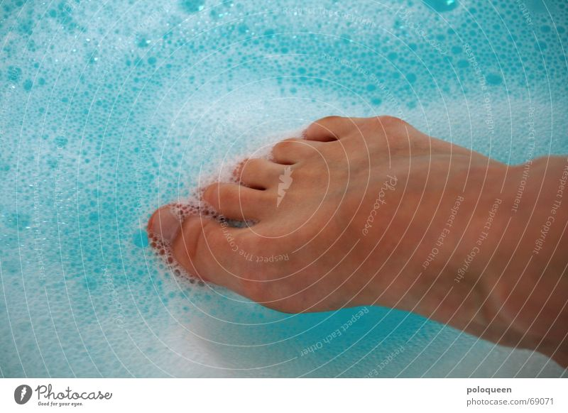Water Blue Relaxation Feet Legs Swimming & Bathing Bathtub Toes Foam Spa