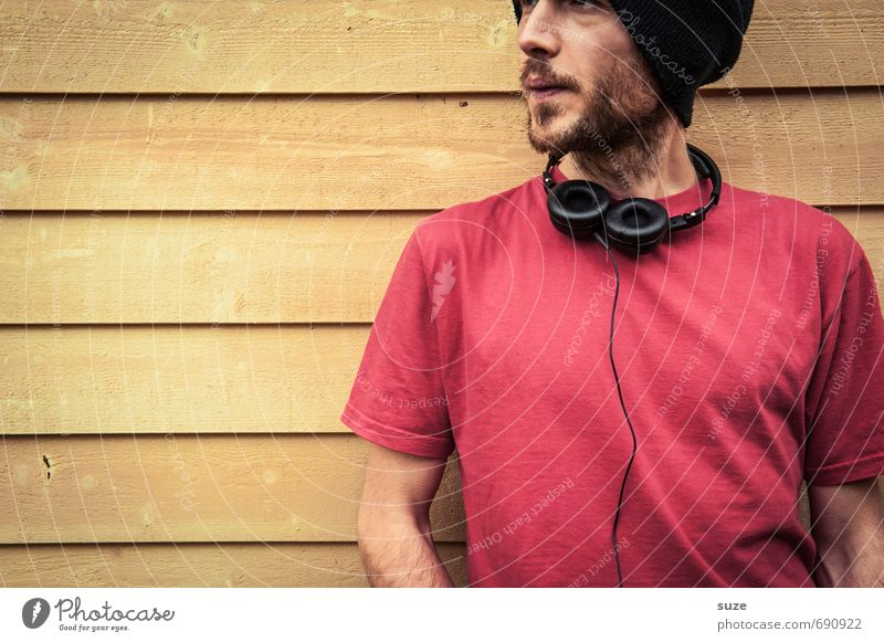 Apparent Lifestyle Style Design Joy Contentment Leisure and hobbies Music Human being Masculine Young man Youth (Young adults) Man Adults Facial hair 1