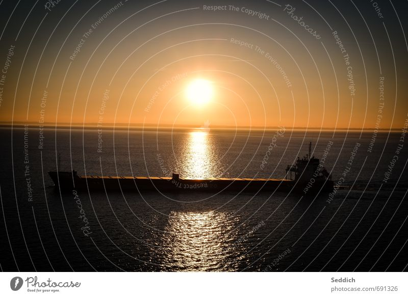Sky Ocean Relaxation Landscape Calm Far-off places Warmth Moody Horizon Contentment Beautiful weather Warm-heartedness Adventure Logistics Baltic Sea Navigation