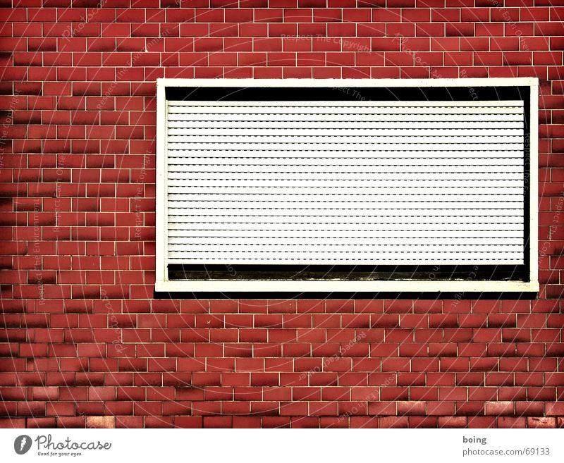Loneliness Window Facade Closed Safety Derelict Furrow Seam Old building Redevelop Venetian blinds Window board Butcher Roller blind Rent Screening