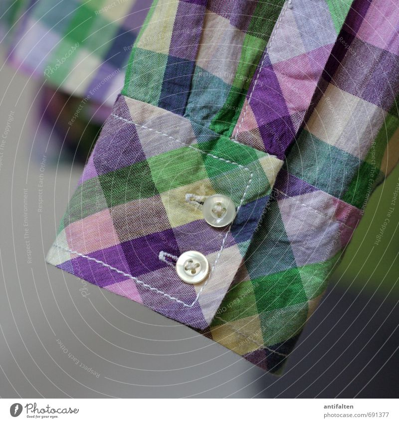 Spring Fashion II Shopping Style Leisure and hobbies Sewing Clothing Shirt Cotton Decoration Buttons Hang Happiness Multicoloured Yellow Green Violet Pink