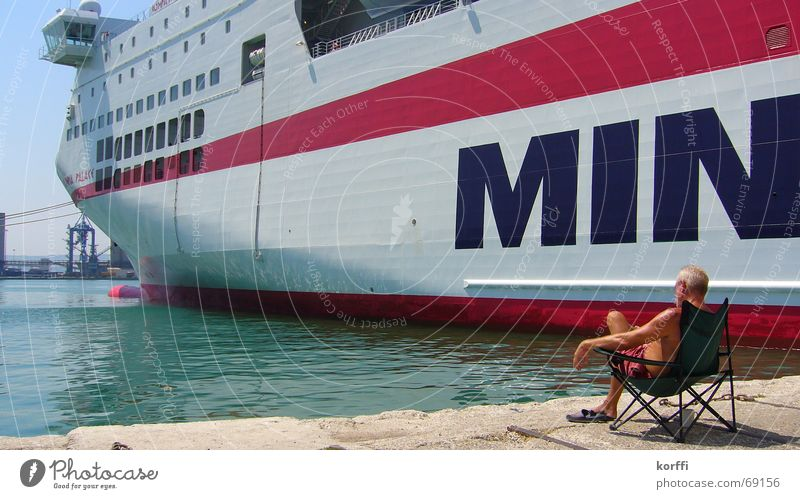 ferry Ferry Watercraft Port Calm Ocean Harbour Sit