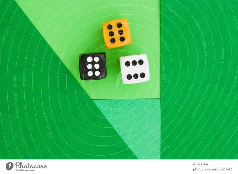 cubes on green graphic background Lifestyle Style Happy Leisure and hobbies Playing Success Loser Joy Contentment Hope 6 Digits and numbers Good luck