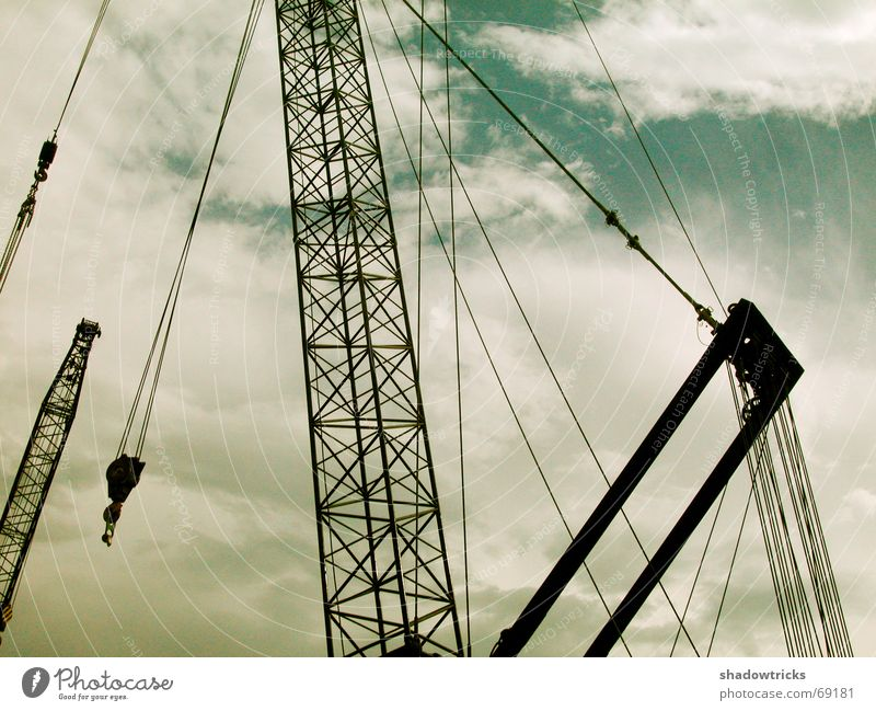 Sky Green Blue Clouds Power Metal Concrete Rope Force Europe Energy industry Logistics Industrial Photography Construction site Thin Force
