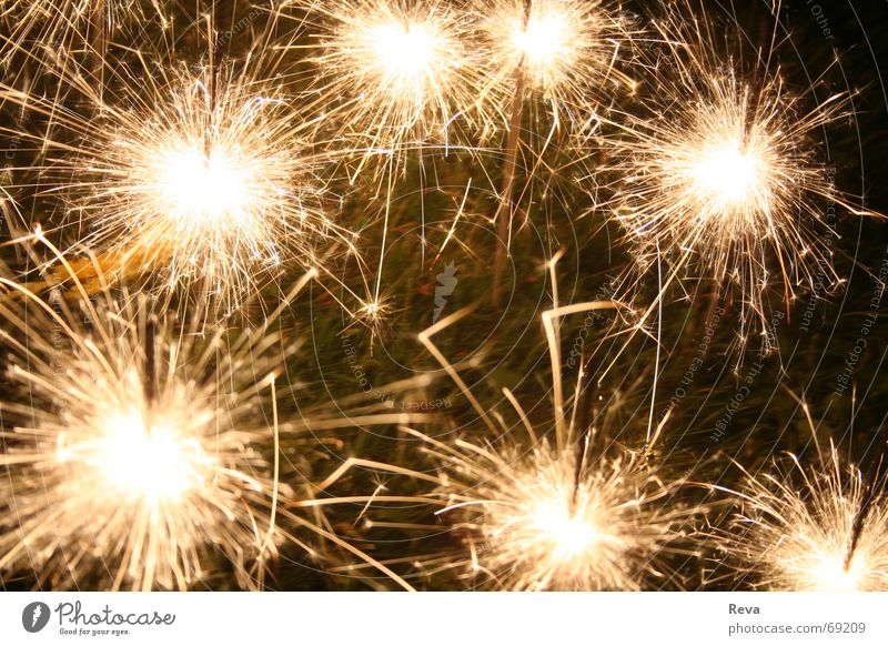 Beautiful Dark Bright Feasts & Celebrations Glittering Blaze Illuminate New Year's Eve Burn 7 Sparkler