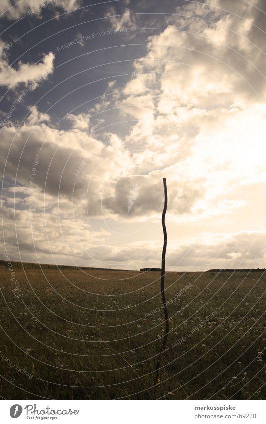 Sky Sun Clouds Meadow Grass Steel Iron