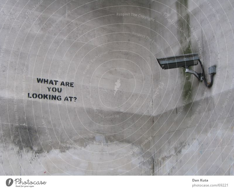 Joy Black Wall (building) Gray Graffiti Funny Weather Walking Concrete Safety Corner Cable Camera Observe Humor Underground