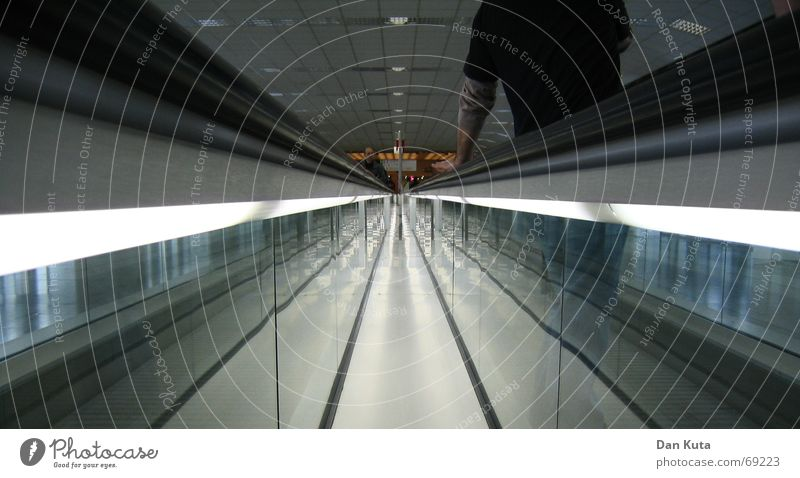 I'll let myself go Moving pavement Suitcase Frankfurt Symmetry Mirror Reflection Man Light Central Middle Suction Reaction Suck Exciting Tunnel Concert sloth