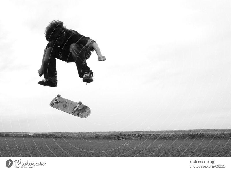 Child Joy Street Sports Boy (child) Jump Style Freedom Flying Action Skateboarding Dynamics Transport Extreme Salto Trick