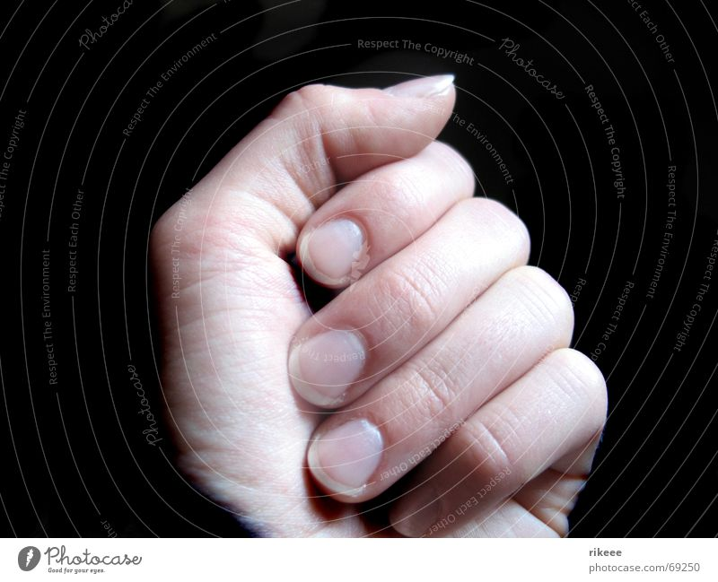 Human being Hand Black Bright Power Arm Closed Fingers Mysterious Thumb Fingernail Nail Fist Forefinger Middle finger