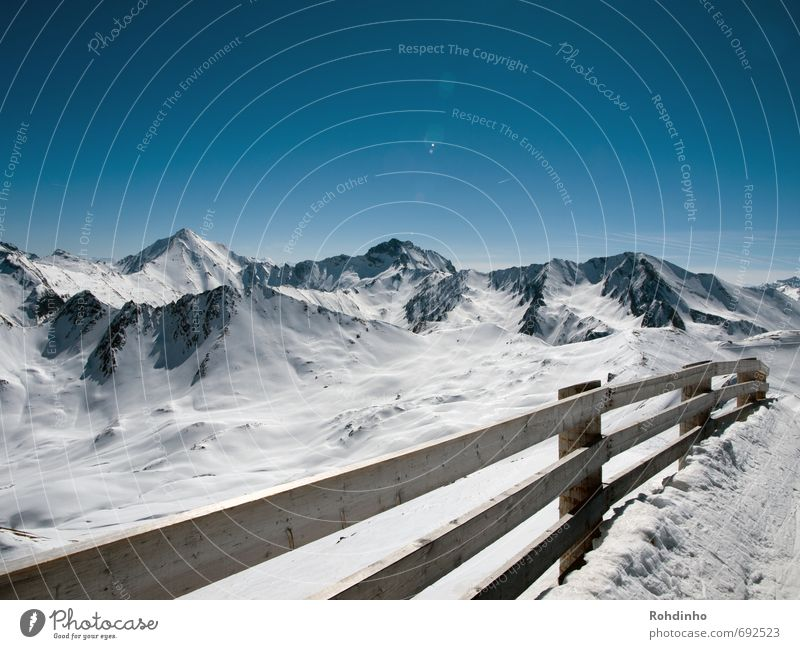 panorama fence Leisure and hobbies Vacation & Travel Far-off places Winter Snow Winter vacation Mountain Winter sports Ski run Nature Landscape Sky