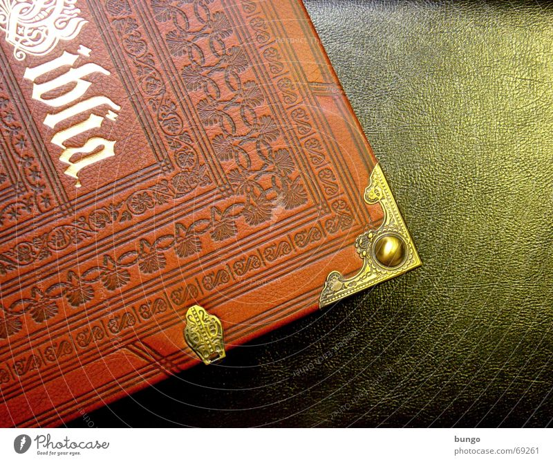 ... et veritas Book Reading Relaxation Leisure and hobbies Gold Curlicue Leather Bible New Testament Deities Religion and faith Christianity Pattern Ornament