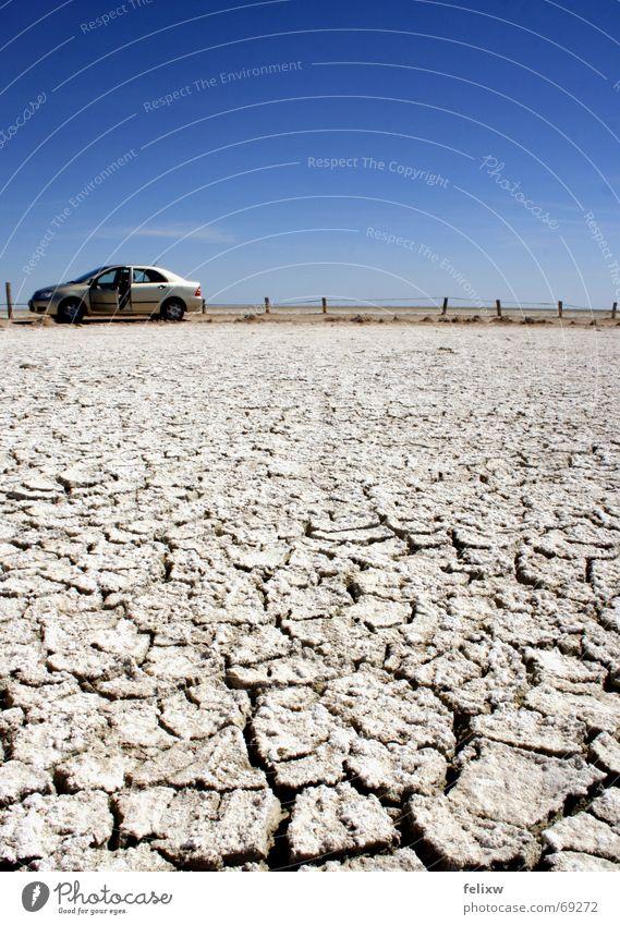 Sky Car Door Large Africa Desert Fence Escape Beautiful weather Namibia Erosion Nature reserve Etosha pan